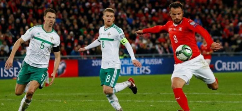 joueurs foot suisse et irlande